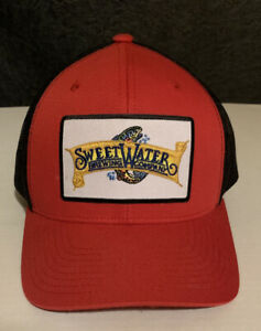 Sweetwater-Brewing-Co-Trucker-Hat-Snapback-Cap-Men-OSFA-Beer-Brewery-Atlanta-Red