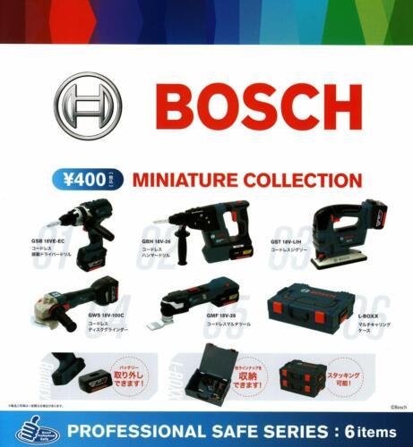 BOSCH MINIATURE COLLECTION All 6 set Gashapon mascot toys Complete set