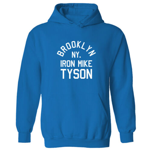 Womens Iron Mike Tyson Boxing Logo Slogan Pullover Hoodie NEW