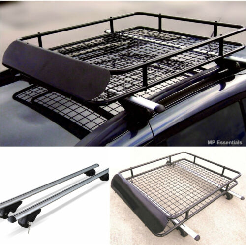 Mway Locking Aluminium 135cm Roof Rail Bars & Car Rack Tray for Mercedes ML 98