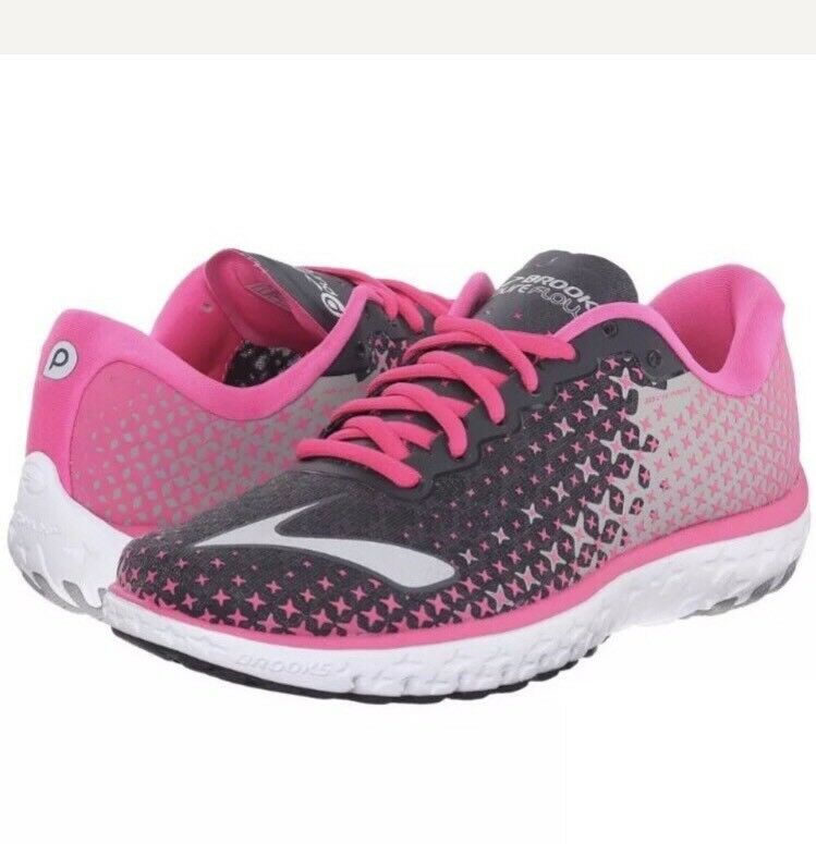 New Women's Brooks Running PureFlow 5 Shoes, Pink, Size 7.5