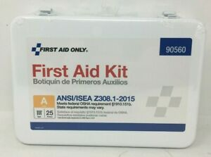 First Aid Only 90560 25 Person First Aid Kit Metal Case