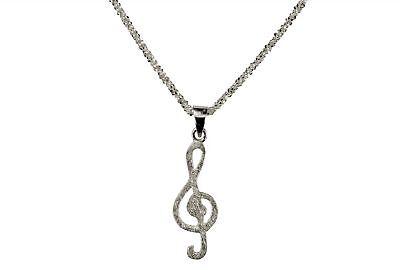 Violinschlüssel Notenschlüssel Damen Ring 925er Silber Musik Geschenk für Sie