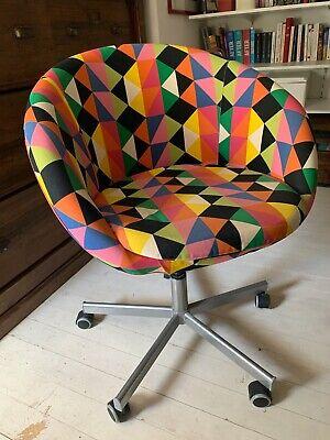 chaise pivotante de bureau, hauteur réglable (79 86cm), Ikea, tissu multicolore | eBay