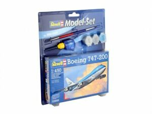 REVELL-1-450-BOEING-747-200-MODEL-AIRCRAFT-KIT-JUMBO-JET-MODEL-PLANE-SET-63999