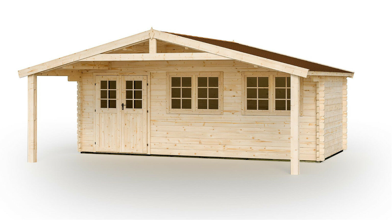 44 mm gartenhaus 600x500 cm + fußboden gerätehaus holzhaus
