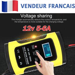 Chargeur-de-Batterie-6A-12v-Voiture-Moto-Rapide-Smart-Indicateur-LED