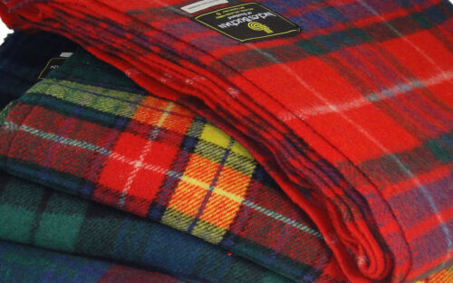 Traditional Scottish Tartan Wool Mix Blanket Throw Rug Warm Blanket Cozy Throw