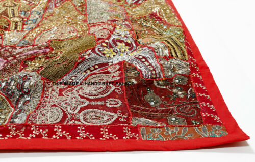 """60/"""" STUNNING INDIAN BEADS SEQUIN SARI WALL HANGING DÉCOR TAPESTRY THROW RUNNER"""