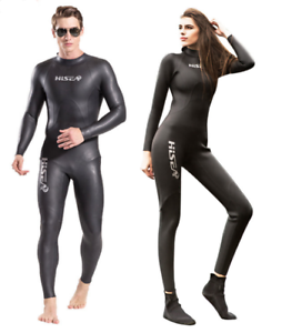 Men Women 3mm Full Body  Wetsuits Diving Suits for Free Dive Scuba Snorkeling  for sale online