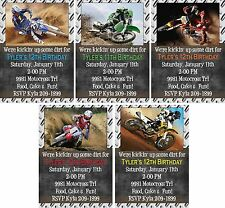 *Print Your Own* Kickin' Dirt Motocross Dirt Bike Birthday Invitation * U Choose
