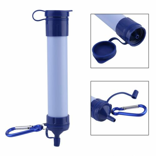 Personal Portable Water Filter Straw Outdoor Drinking Emergency Survival Tool TP