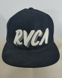 RVCA-x-Starter-Black-and-White-Snap-Back-Hat-Cap-H54