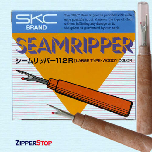 12 Seam Rippers Large Type with Woody Color Handles