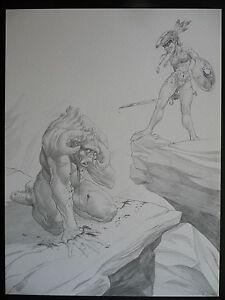 RARE-Ex-libris-dessin-crayonne-de-Philippe-BUCHET-BD-Sillage-Navis