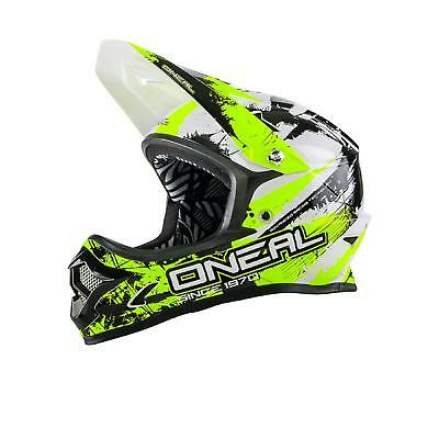 Oneal Backflip Casco Dh Rl2 Shocker Giallo Dh Fr Mtb Fullface Mountain Bike Downhil-