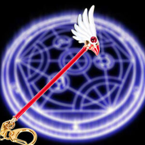Cardcaptor Sakura Clear Cards Dream Wand Pendant Keychain Keyring Cos Key Chain