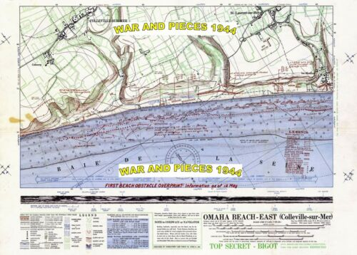 1:6 SCALE D-DAY MAP SET