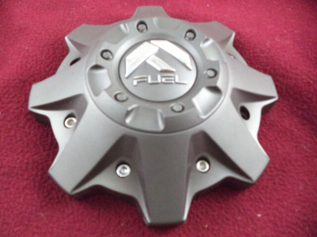 Fuel Wheel  8 Lug Silver Wheel Center Cap Set of 4 with Bolts  # 1002-53