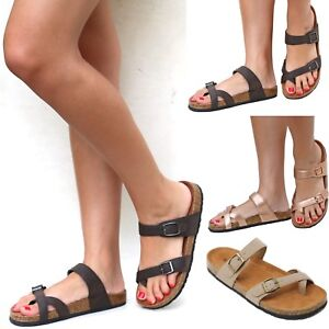 fefc123cfab New Women BDf Toe Ring Cork Platform Slippers Sandals Slip On Slides ...