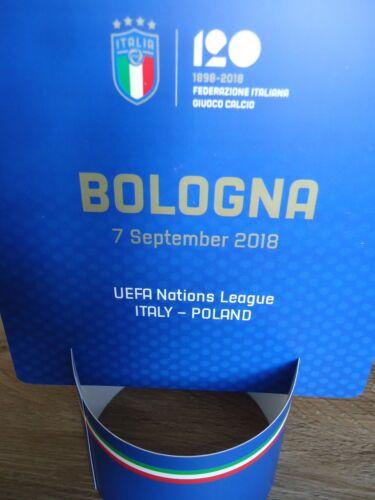 Memorabilia VIP Tisch Aufsteller 7.9.2018 Italien Italy Italia Polen Poland in Bologna Accessoires