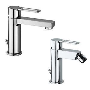 Set miscelatori bagno lavabo e bidet in ottone cromato 1 1 4 scarico automatico ebay - Miscelatori bagno paffoni ...