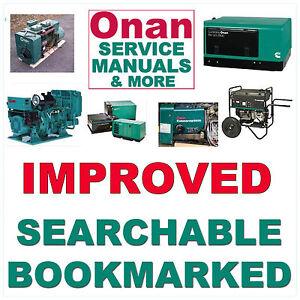 Onan-CCK-Genset-Engine-SERVICE-MANUAL-amp-Parts-amp-OWNER-20-Manuals-HUGE-SET-CD