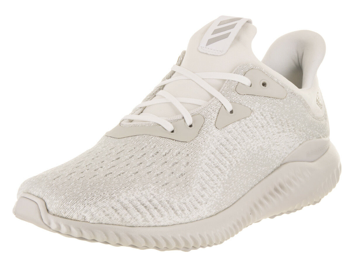 Adidas Men's Alphabounce Em Running White/Silver Metallic/Off White Running Shoe