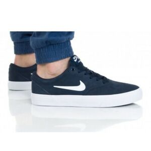 Chaussure Nike Sb Charge Suede M CT3463-401 blanche bleu marin | eBay