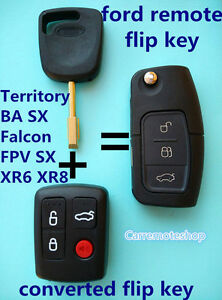 Details about Ford Transponder Remote & Flip Key Suit Model BA Falcon FPV  XR6 & SX Territory