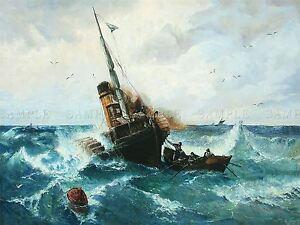 PAINTING FANTASY SEASCAPE MAYNARD STRANGE SEAS LARGE REPRO POSTER PRINT PAM2070