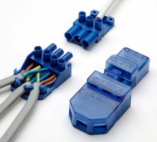 CT101C Click Flow 3 Pin Connector Pull Apart Junction Box Connector