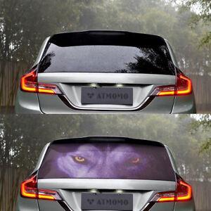 Details About Transpa Auto Car Back Rear Window Decal Vinyl Sticker Horror Wolf 1pcs