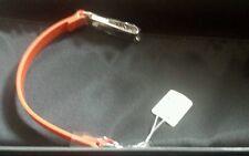 Calvin Klein-Orange Leather & Stainless Steel Wristband Bracelet in box