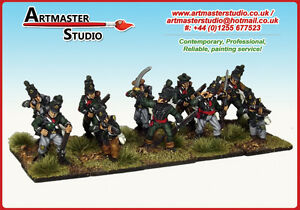 10-x-28mm-PAINTED-FRONT-RANK-NAPOLEONIC-BRITISH-95TH-RIFLES