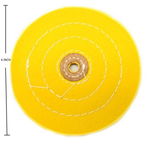 150mm 6 Inch Flanell Polierscheibe Hochglanzpolieren Metall Kunststoff Polieren