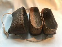 Antique Early Asian Pacific Philippines Artesanial Basket w/Compartments