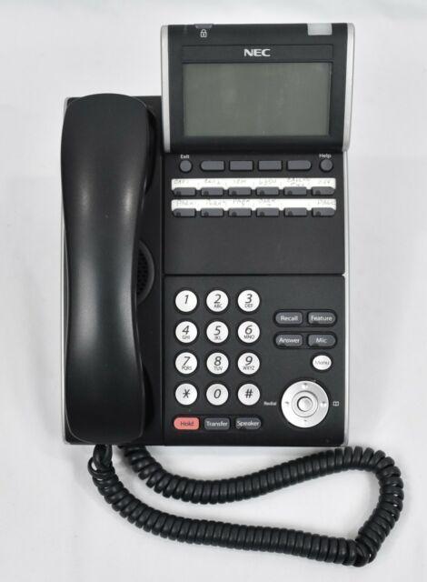 VoIP Desktop Phone ITL-6DE-1 BK Z- TEL NEC DT700 Series Model ILE No AC BK 6D