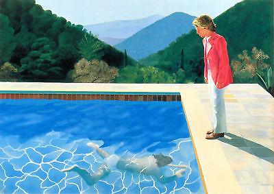 "David Hockney Pool Canvas Wall Art /""20x30/"""