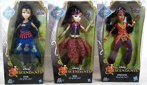 "DMG PKG* Disney Descendants 3 DOLLS Genie Chic EVIE MAL FREDDIE Isle of Lost 11/"""