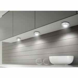 Details About 3pcs Stick On Led Lights Battery Operated Wireless Lamp Kitchen Cabinet Wardrobe