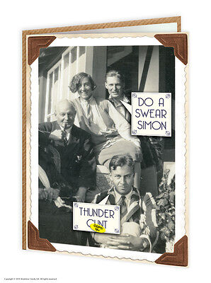 Brainbox Candy Rude black and white picture funny greetings//birthday card Beryl