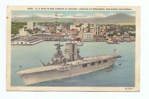 U-S-NAVY-PLANE-CARRIER-Pre-Aircraft-Carrier-Days-Posted-1937-San-Diego-CA