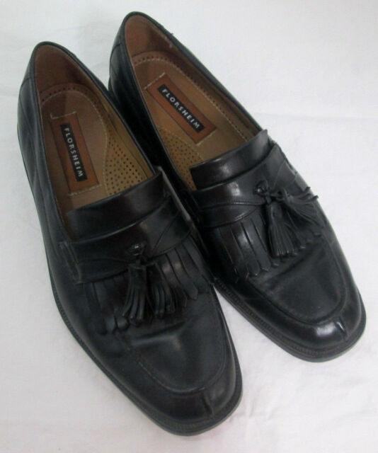 Florsheim Mens Dress Shoes Loafer with Tassel Black Leather Size 9 D