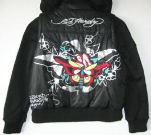Ed hardy geisha butterfly hoodie