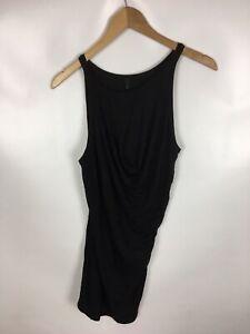 BENETTON-T-Shirt-Top-Longshirt-schwarz-Groesse-L