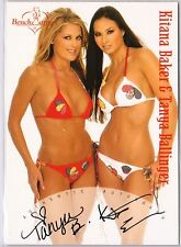 KITANA BAKER & TANYA BALLINGER 2003 Benchwarmer 2 SIGNATURE AUTOGRAPH RARE