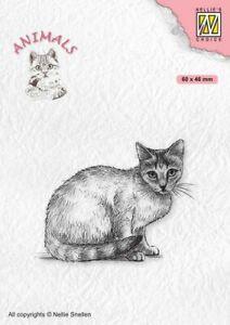 Motiv-stempel Clear stamp Katze Cat Animal Nellie Snellen ANI023
