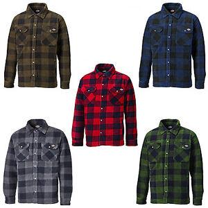 Dickies Portland Shirt Mens Fleece Padded Lumberjack Stud Work ... 21b1c37f9665