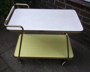 Pflichtbewusst 50er 60er Teewagen Bar Servierwagen Resopal Table 50s Mid Century Lounge Tisch Vertrieb Von QualitäTssicherung Antiquitäten & Kunst Stilmöbel Nach 1945